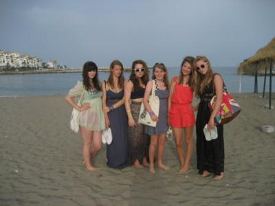 me and my friends on the beach in Banus