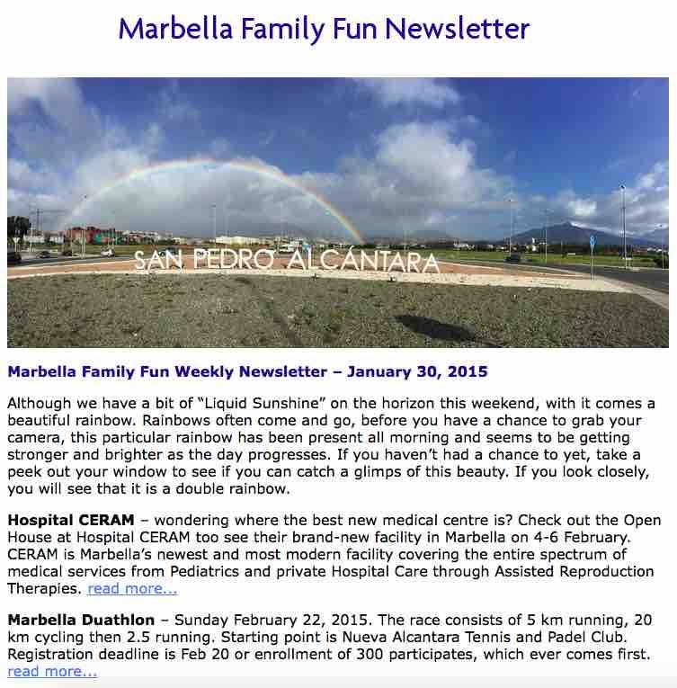 Marbella Family Newsletter