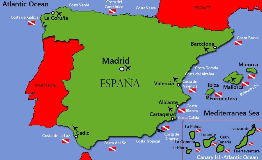 Marbella Map Of Spain.Scuba Diving Marbella Top Recommendations For Costa Del Sol Diving