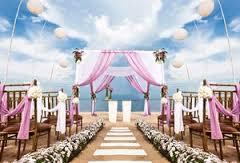 Beach wedding venue in Marbella
