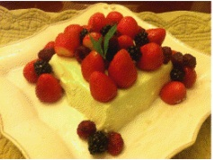 Light and refreshing dessert - decorated with red berries