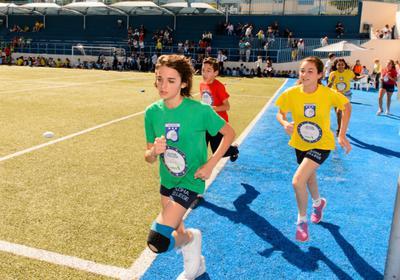 Aloha College kids running