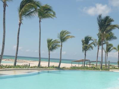 Caribbean Blue sea and sandy beach