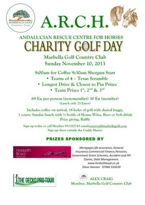 Information on the golf tournament