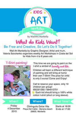 Art Workshop for Kids at Banana Beach - 4 December 2015