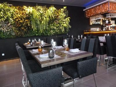 The living wall and Nacre Bar