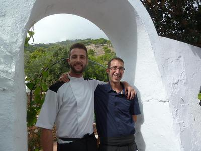 Chef Pedro and Waiter David from Casa 5