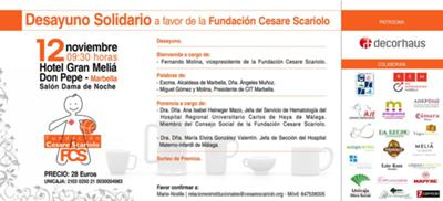 Charity breakfast for Cesare Scariolo Foundation