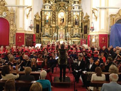 The choir and orchestra of the Collegium Musicum