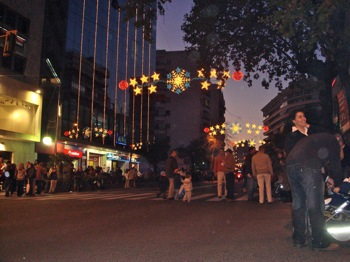 Christmas lights in Marbella