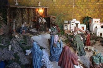 Christmas nativity market