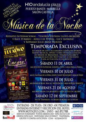 Music of the Night Marbella 2015