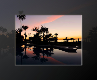 This beautiful sunset is seen from the Kempinski Hotel Bahía DeLuxe Rooms