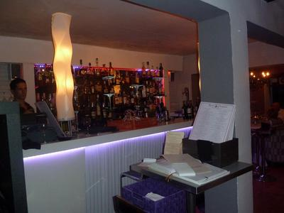 the new bar area