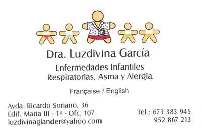 Dr luzdivina garcia morales de los rios paediatrician business card colourmoves