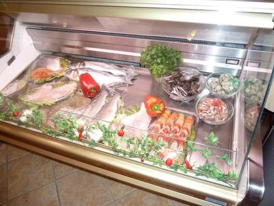 The fresh food on display at El Ranchero restaurant