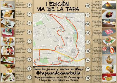 Ruta de Tapa Map Large