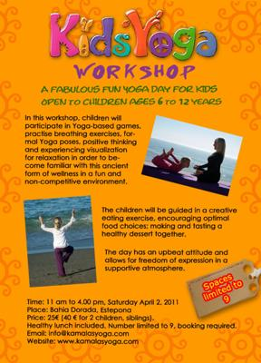 Kids yoga workshop in Estepona