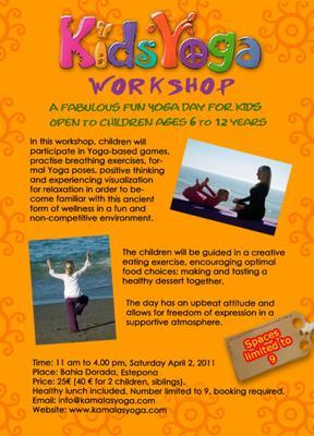 Kids yoga workshop in Estepona