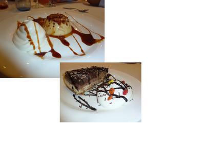 we share 2 desserts
