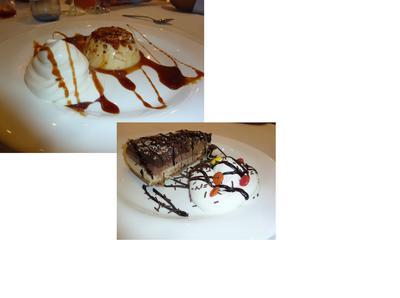 we share two desserts