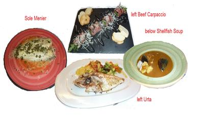 some of the dishes we had