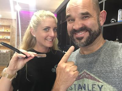 Fizz McMullen Master Barber at The Barber Club Marbella