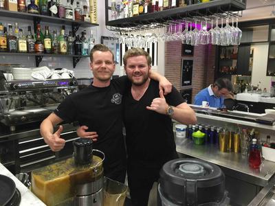 Bar Guys at The Barber Club Marbella