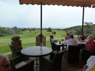 View down to the sea at Marbella Golf Country Club