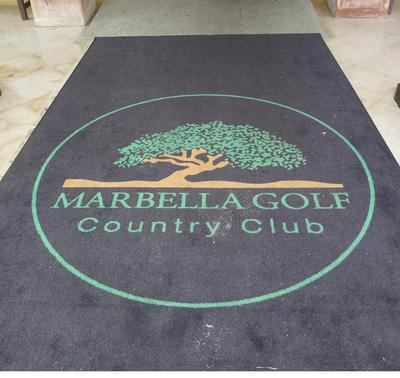 The 'not' red carpet at Marbella Golf Country Club