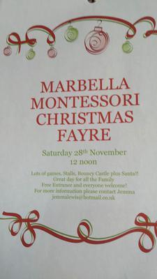 Marbella Montessori Christmas Fayre