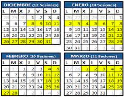 Marbella Skiing Calendar