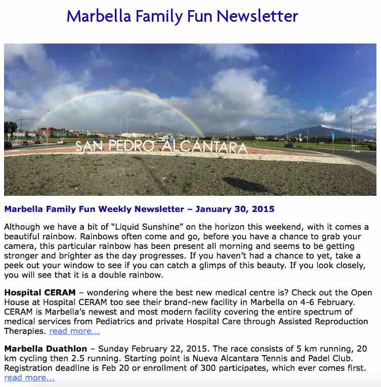 Marbella Family Newsletter