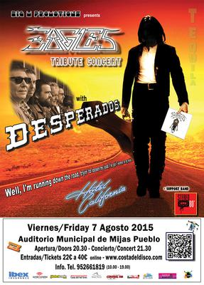 Musical tribute to The Eagles in Mijas - August 7, 2015