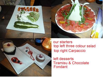 our starters & desserts