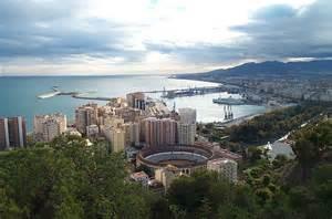 a Panoramic view of Malaga from Gibralfaro
