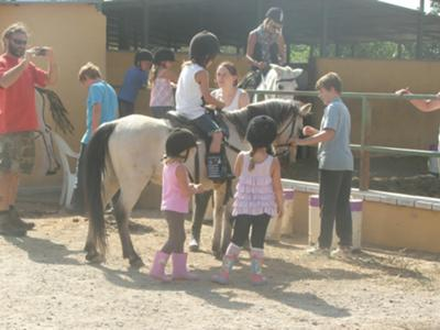SImba takes care of our youngest pony club member