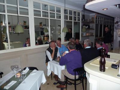 long and narrow dining room at Casa Tua Marbella