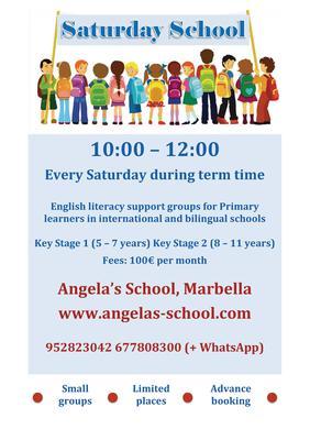 Saturday School at Angela's School, Marbella