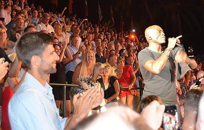 Seal and Novak and Djokovic in Marbella
