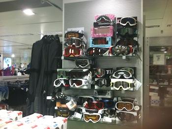 Ski goggles at El Corte Inglés Marbella