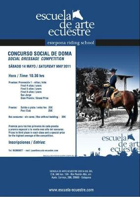 Social dressage at Estepona riding school