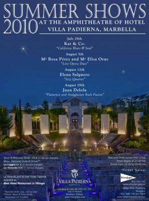 Summer shows 2010 at Villa Padierna