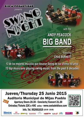 Swing Night with the Andy Peacock Big Band - June 25, 2015