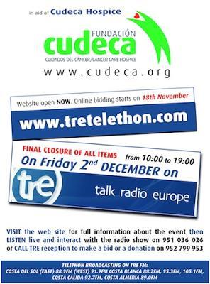 Talk Radio Europe Telethon in aid of Cudeca