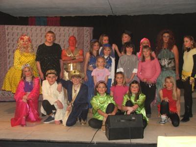 The cast of Aladdin's Lamp