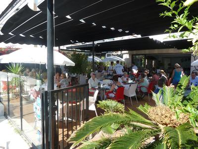 The busy terrace at Garum's