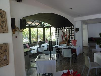 Part of the dining romm at Garums