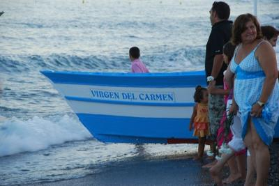 Boat carrying the virgin