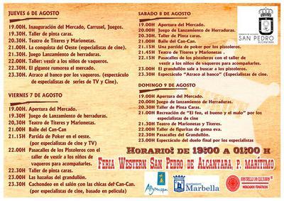 Agenda Feria Western San Pedro